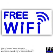 2 x Free WiFi-External-B/W-Sticker-Free,WiFi,Internet,Cafe,Restaurant,Shop,Hotel